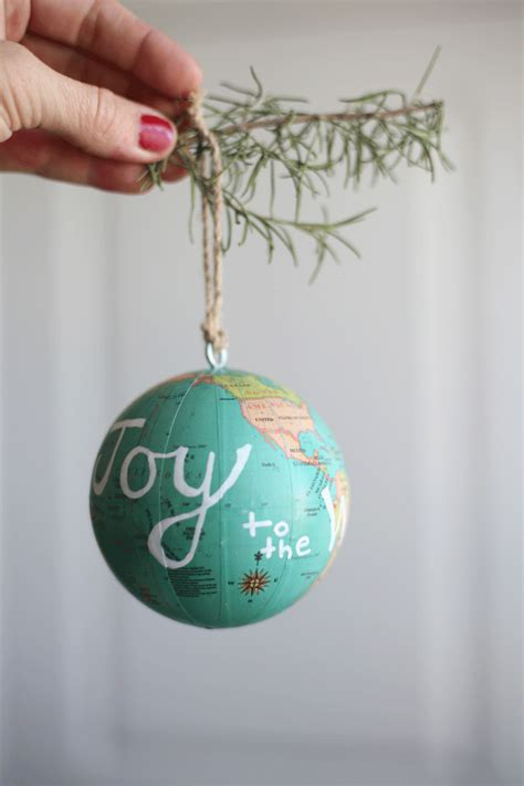 joy to the world globe ornament light the world