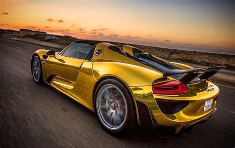porsche gold behold the s only gold porsche 918 spyder