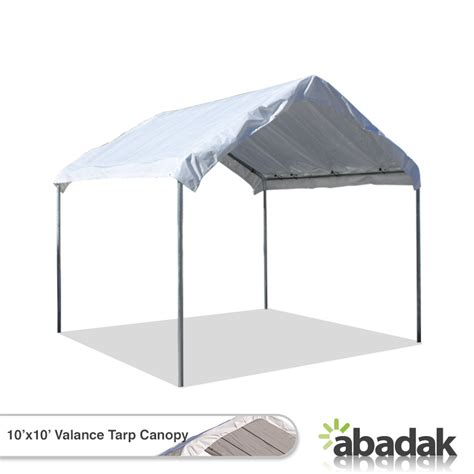 10 X 10 Awning by 10 X 10 Tarp Tent Canopy With Valance Top Tarpsplus