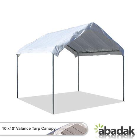 10 x 10 awning 10 x 10 tarp tent canopy with valance top tarpsplus com
