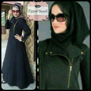 Gamis Abaya Muslim Dress Wanita Saudi Black Series gamis arab zipper fashion