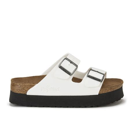 platform birkenstock sandals birkenstock papillio s arizona slim fit patent