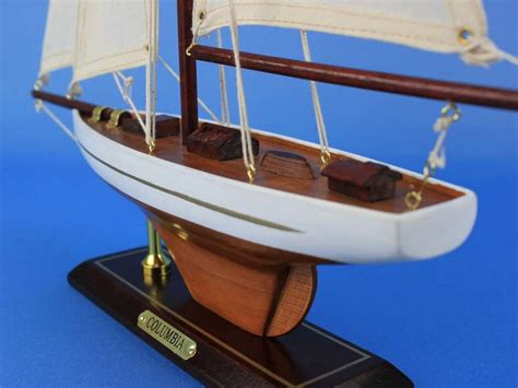 toy boat decoration wholesale wooden columbia model sailboat decoration 16in