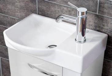 mini waschbecken gäste wc fackelmann keramikbecken 45 x 32 cm waschmulde links