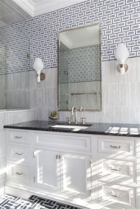 bathroom  mixed tiles contemporary bathroom