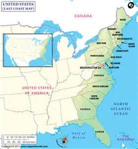 Map Usa East Coast by Map Of East Coast 187 Maps