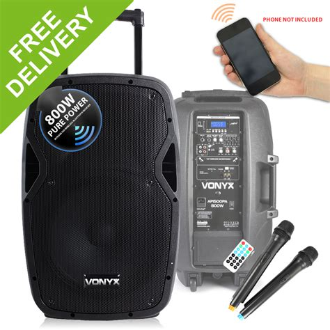 Multi Function Wireless Portable Pa Sound System vonyx sound portable battery powered bluetooth pa system