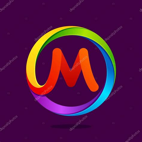 colorful circle logo m letter colorful logo in the circle stock vector 169 kaer
