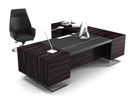 Modern Executive Office Design 4 Elegant Black Office Desk Table
