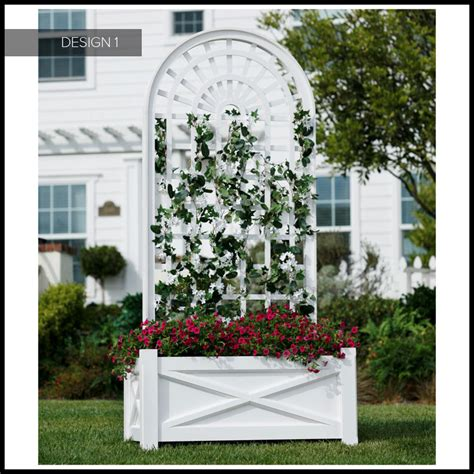 Garden Trellis Planter by Large Hotel Planters With Pvc Garden Trellis Hooks Lattice