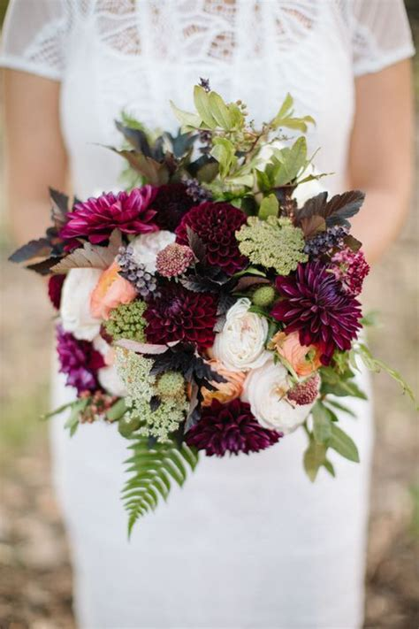 wine colored flowers 2015 wedding trends pantone color of the year marsala