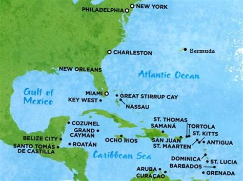 map of us and caribbean islands bahamas bermuda map