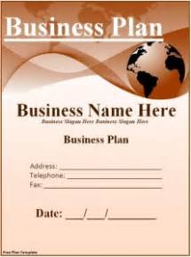 cover page for business plan template free plan template word excel pdf