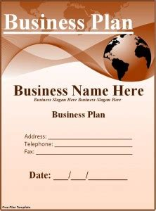cover page template for a business plan 5 business plan templates word excel pdf templates