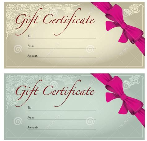 gorgeous gift certificate design template exle with
