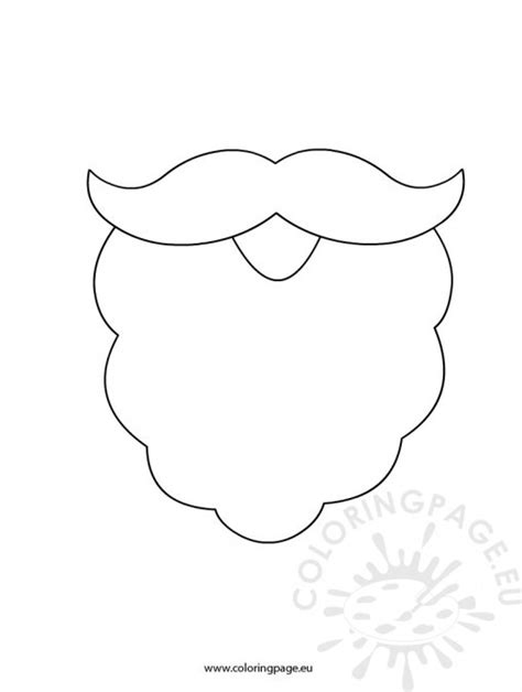 printable santa beard template page 2 search results
