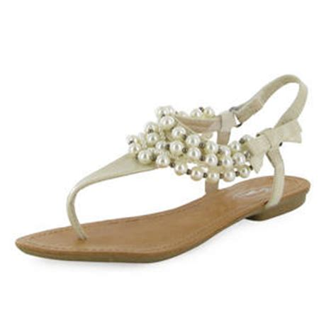 Sandal Selop Vogue Creme patent pearl flat sandals new sizes 3 8 uk ebay