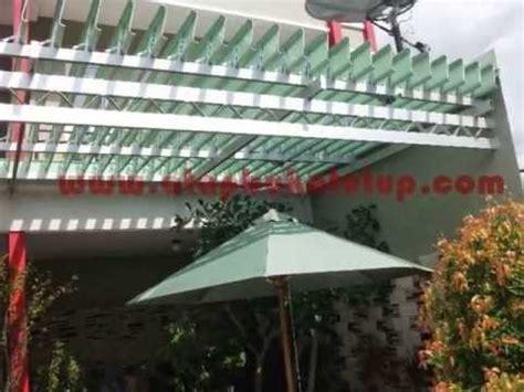 Channel Buka Tutup pemasangan atap buka tutup untuk penutup taman proyek