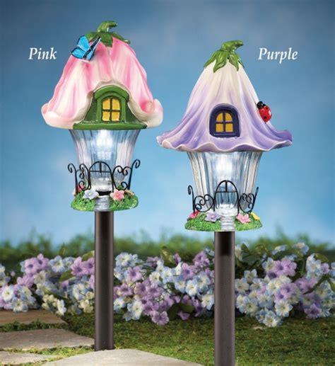 solar fairy house solar fairy house garden pathway stake fresh garden decor