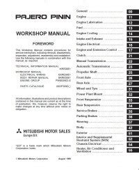 download car manuals pdf free 1988 mitsubishi pajero regenerative braking mitsubishi pajero pinin workshop manuals pdf