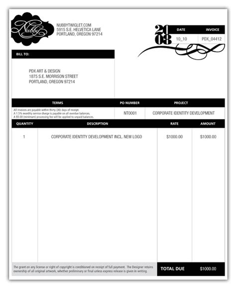 designing invoice template 10 free word excel pdf format