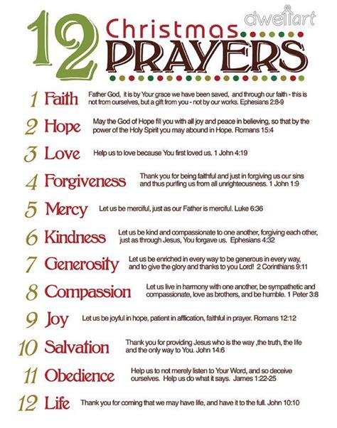 printable advent calendar prayers 12 prayers christmas pinterest holidays advent