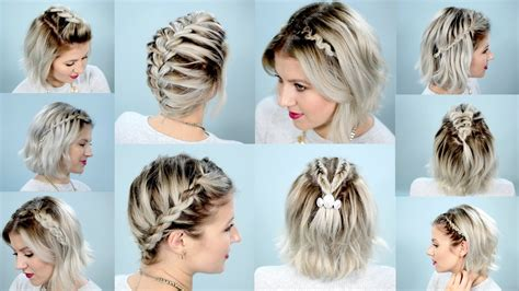 cute hairstyles with braids youtube how to make diffe braids for short hair life style by