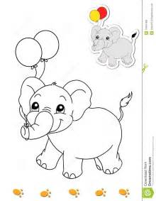 coloring book of animals 8 elephant royalty free stock