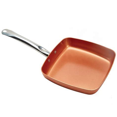 amazon pan copper chef 9 5 quot square fry pan
