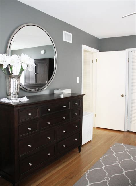 gray walls white trim beautiful i love everything about this the grey walls