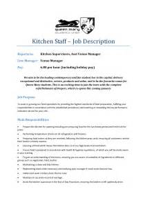 Kitchen Manager Profile Mcdonalds Cook Description Pantry Kitchen