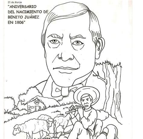 imagenes de benito juarez faciles para dibujar colorear los dibujos de benito ju 193 rez educaci 211 n f 205 sica