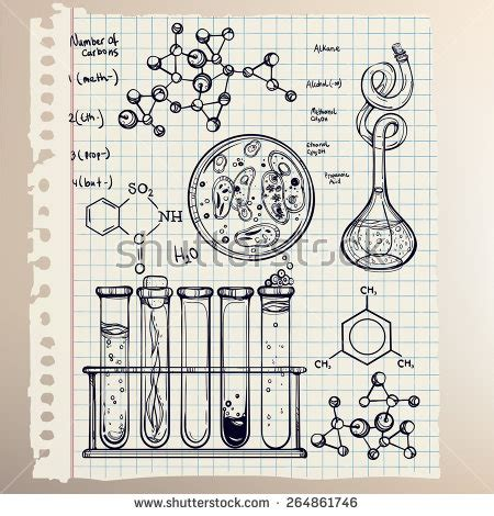 doodle soluciones science beautiful laboratory icons stock vector