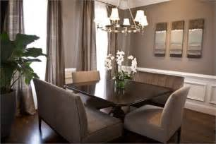 Modern brown dining room decor in 2012