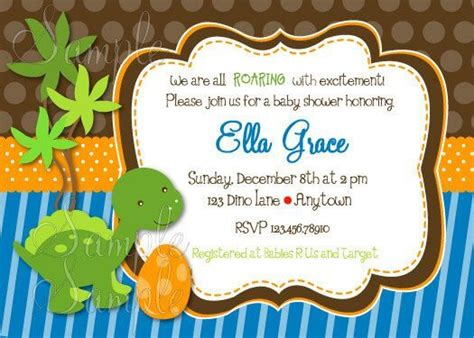 Cute Dinosaur Baby Shower Ideas And Decorations Baby Shower Ideas Dinosaur Baby Shower Invitation Template