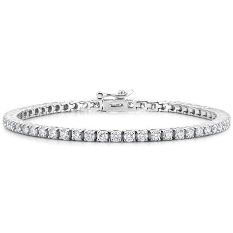 diamond tennis bracelet in 18k white gold 2 blue nile 18k white gold diamond tennis bracelet 4 ct tw