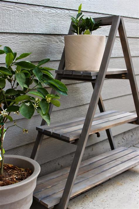 How To Make A Plant Holder - builders showcase chic house a frame plant stand