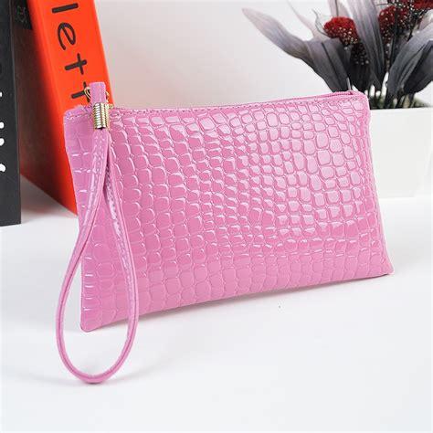 pattern for envelope purse women clutch purse bag pu leather handbag crocodile