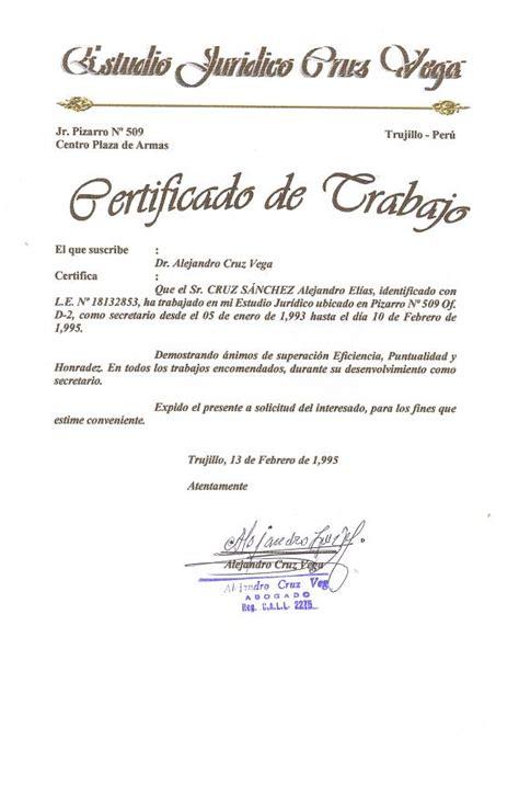 Modelo De Curriculum Vitae Estudio Juridico modelo de certificado laboral modelos de curriculum