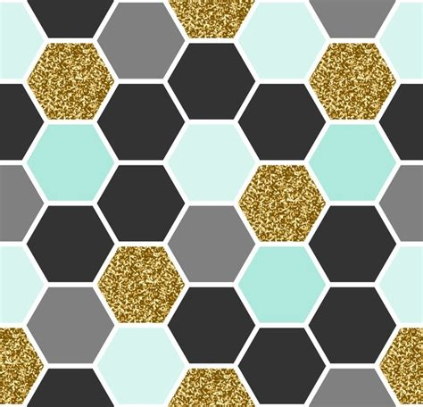 hexagon pattern vinyl hexagon seamless pattern wall mural pixers 174 we live to