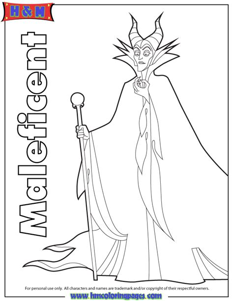 Sleeping Beauty Maleficent Coloring Page H M Coloring Maleficent Coloring Pages