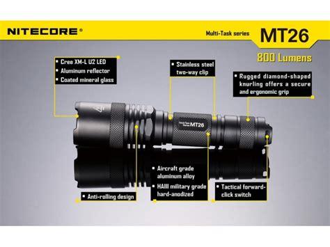 nitecore mt26 18650 flashlight nitecore mt26 now in india at lightorati