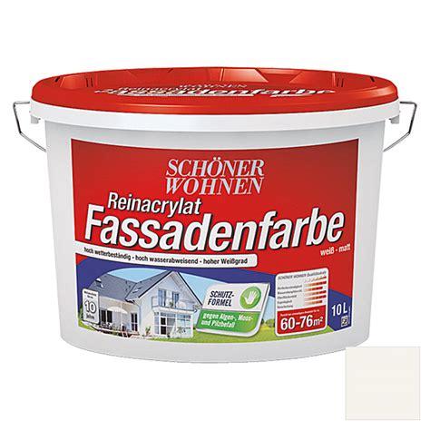 fassadenfarbe bauhaus sch 246 ner wohnen reinacrylat fassadenfarbe fungizid wei 223