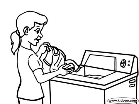 laundry coloring page
