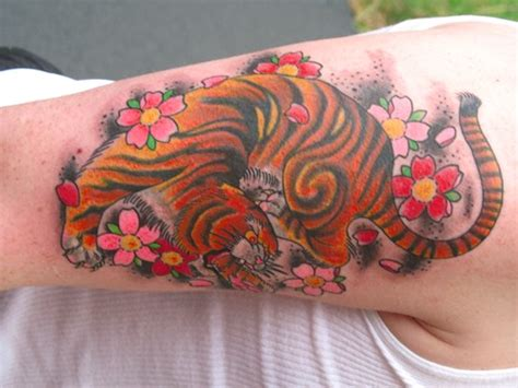 deluxe tattoo tattoos traditional asian tiger and