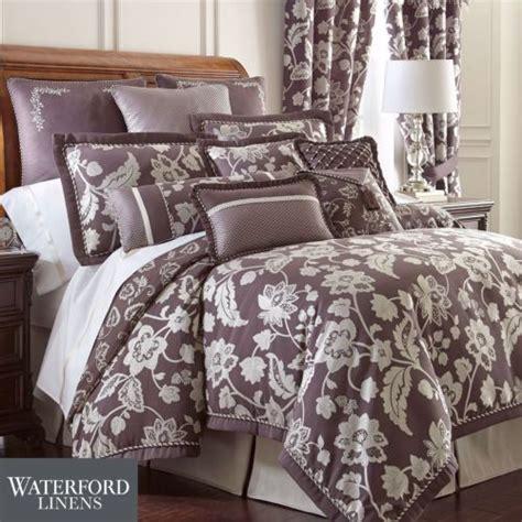 waterford king comforter set waterford adelisa 7p king comforter set floral damask plum