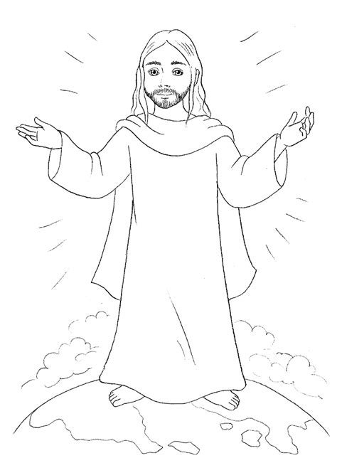 coloring page jesus coming again jesus coloring pages http designkids info jesus