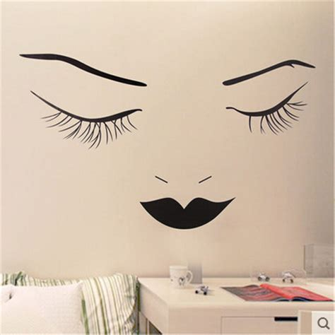 Black And White Wall Stickers girl black and white cartoon wall stickers creative