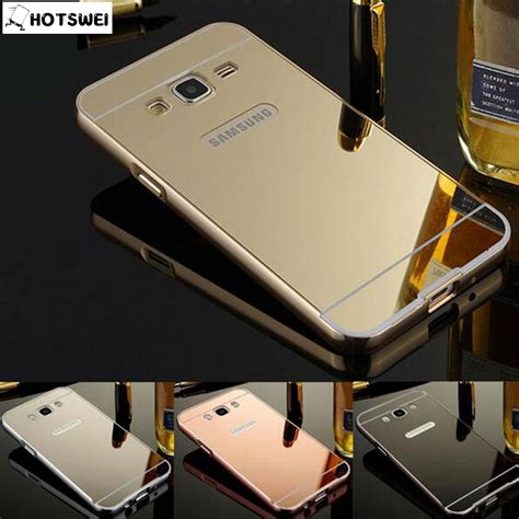Samsung Galaxy J3 Aluminum Metal Bumper Mirror Plating Murah j3 6 2016 for samsung galaxy j3 2016 sm j320 new