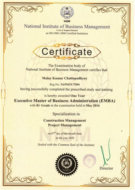 Mba Program Certifications by Mba Certificate